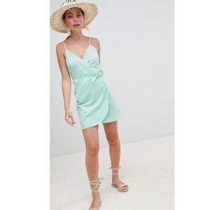 ASOS Petite Mint Green Wrap Dress